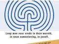 Labyrint voor vrede lopen in Muiderberg